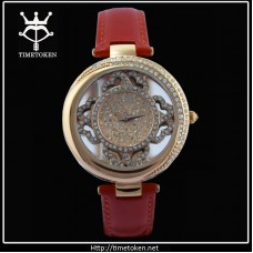 Fashion leather strap watches for women.
