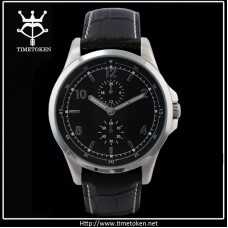 Stainless steel quartz wrist men's watch