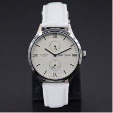 Genuine leather strap simple style Japan quartz watch for men